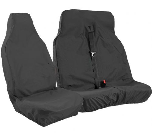 VAN SEAT COVERS HEAVY DUTY BLACK - FITS VOLKSWAGEN TRANSPORTER AND CRAFTER